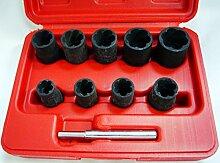 neuen 9PCS Auto Truck Zubehör beschädigt Mutter/Ohrstecker Entferner Set Garage Werkzeug