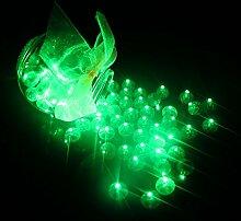 neuen product100PCS/LOT rund Ball LED-Ballon Leuchten Mini Flash für Laterne Weihnachten Hochzeit Party Dekoration, grün, 1.5*1.5*1.5cm