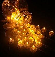 neuen product100PCS/LOT rund Ball LED-Ballon Leuchten Mini Flash für Laterne Weihnachten Hochzeit Party Dekoration, gelb, 1.5*1.5*1.5cm