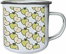 Neuer Apfelmuster Hintergrund Retro, Zinn, Emaille 10oz/280ml Becher Tasse h303e
