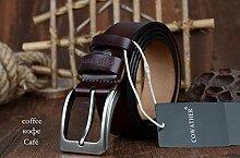 Neuer echter Ledergürtel für Männer mit Riemen