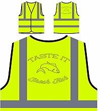 Neuer Fischchef Leckerer Grill Personalisierte High Visibility Gelbe Sicherheitsjacke Weste l761v