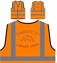 Neuer Fischchef Leckerer Grill Personalisierte High Visibility Orange Sicherheitsjacke Weste l761vo