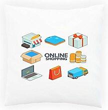 Neuer Online-Shop Einkaufen Dekoratives Kissen, Kissenbezug mit Einlage/Füllung oder ohne, 45x45cm l852p