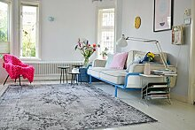 Neuer Teppich | im angesagten Shabby Chic Look | für Wohnzimmer, Schlafzimmer, Kindergarten | Grau (9508 225cm x 155cm)