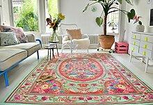 Neuer Teppich | im angesagten Shabby Chic Look | für Wohnzimmer, Schlafzimmer, Kindergarten | Pastell (nr 611 275 cm x176 cm)