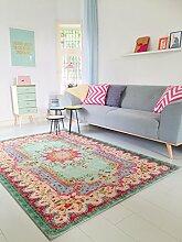 Neuer Teppich | im angesagten Shabby Chic Look | für Wohnzimmer, Schlafzimmer, Kindergarten | Pastell (275 cm x176 cm)
