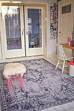 Neuer Teppich | im angesagten Shabby Chic Look | für Wohnzimmer, Schlafzimmer, Kindergarten | Grau 953(280 cm x180 cm)
