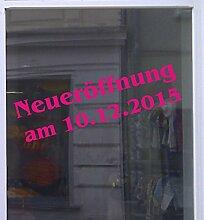 Neueröffnung mit Datum Schaufensterbeschriftung Aufkleber Werbung Auto Laden Magenta 1 Stück 40 cm