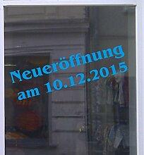Neueröffnung mit Datum Schaufensterbeschriftung Aufkleber Werbung Auto Laden Ocean 1 Stück 100 cm