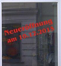 Neueröffnung mit Datum Schaufensterbeschriftung Aufkleber Werbung Auto Laden Rot 1 Stück 150 cm