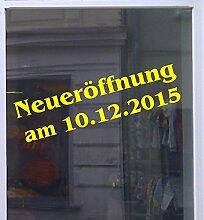 Neueröffnung mit Datum Schaufensterbeschriftung Aufkleber Werbung Auto Laden Gelb 1 Stück 120 cm