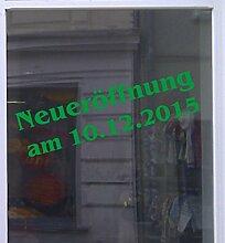 Neueröffnung mit Datum Schaufensterbeschriftung Aufkleber Werbung Auto Laden Grün 1 Stück 100 cm
