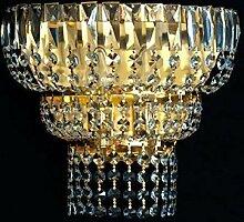 NEUERRAUM Halbrunde Kristall Wandlampe mit 2