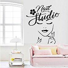 Neues Design Beauty Salon Decor Vinyl Aufkleber