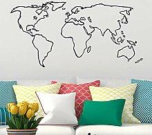 Neues Design Einfacher Stil Weltkarte Globale