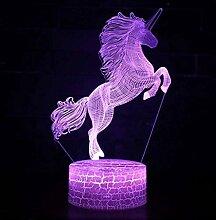 Neues Einhorn 3D-Lampe Spiel LED Nachtlicht 7