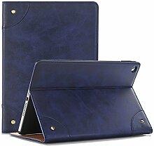 Neues iPad 9.7 Zoll 2017 Schutzhülle, TechCode Bookstyle Ständer Magnet PU Leder mit Smart Auto Schlaf / Wach up Funktion Hülle Case Cover für Apple iPad 9.7 2017 Version (2017 New IPAD, Blau)
