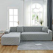 Neueste Stretch Sofabezug L Form beige für