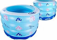 Neugeborenes Schwimmbecken Kit Baby Schlauchboot Schwimmbad Säugling Farbe Transparent Bad,Blue