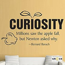 Neugierde Newton Apple-Quote für Kinder