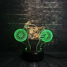 Neuheit 3D Lampe mixcolor Motorrad USB nachtlicht