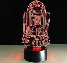 Neuheit 3D Nachtlicht LED Nachttischlampe Lampe