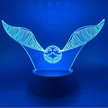 Neuheit 3D Nachtlichter Harry Potter Golden Snitch