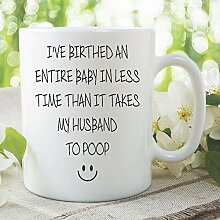 Neuheit, bedruckte lustiger Becher Geschenkideen birthed Baby Ehemann Ehefrau Arbeit Büro Tasse Geschenk geheimer Weihnachtsmann Ideas Tasse Kaffee Tee wsdmug950