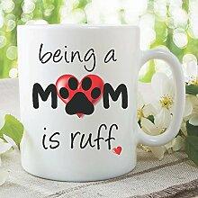 Neuheit, bedruckte lustiger Becher Geschenkideen Hund Mutter Hund schafliebhaber lustig Arbeit Büro Tasse Geschenk geheimer Weihnachtsmann Ideas Tasse Kaffee Tee wsdmug949