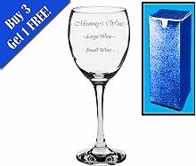 Neuheit Geschenk Weinglas mit Gravur | Mummy 's Wein Große Wein Kleine Wein