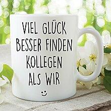 Neuheit-lustige Kaffee-Haferl Viel Glück, das