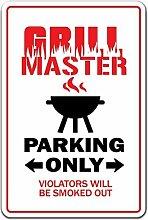 Neuheit Schild Geschenk Grill Master BBQ