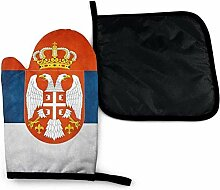 Neuheit Serbien Flagge Vintage Mikrowelle