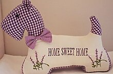 Neuheit Türstopper Hund West Highland Terrier Home Sweet Home lavendel fd1238