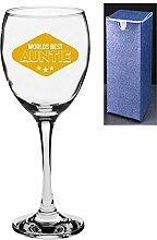 Neuheit Weinglas–Worlds Best Auntie Engrave