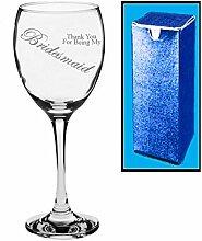 Neuheit Weinglas mit Gravur Hochzeit, Thank You