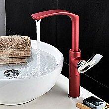 Neuheiten Rot Bad Wasserhahn Waschbecken