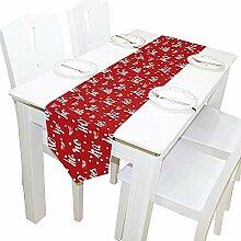 Neujahr Weihnachten Tischläufer, Tischdecke
