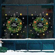 Neujahr Weihnachten Wandaufkleber Cartoon