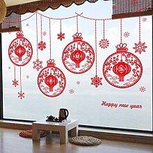 Neujahrslaterne Glasdekoration PVC selbstklebender