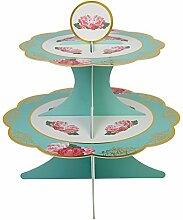 Neviti Eternal Rose Cupcake-Etagere, Türkis
