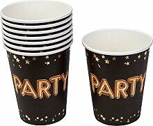 Neviti Glitz and Glamour Partybecher, Schwarz/Gold