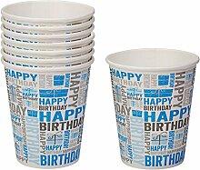 Neviti Happy Birthday Partybecher, Blau