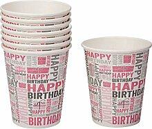 Neviti Happy Birthday Partybecher, Pink
