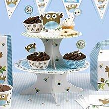 Neviti Little Owls Cupcake-Etagere, Blau