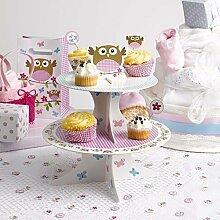 Neviti Little Owls Cupcake-Etagere, Pink