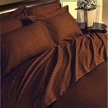 New 1Stück Bett Rock Classy 350TC Schokolade Streifen Euro Double IKEA 100% ägyptische Baumwolle extra tief Tasche (20Zoll)–von TRP Blatt–B5
