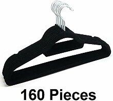 New 160Kleiderbügel Coat Kleiderbügel rutschfeste Samt beflockt geschwungene Hosen-kleid