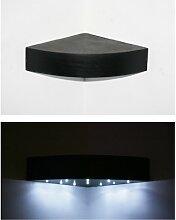 New Black, handgefertigt, Holz, gebogene Wandregal Regal mit LED Beleuchtung
